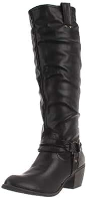 Rebels Women's Palomino Knee-High Boot,Black,6 M US