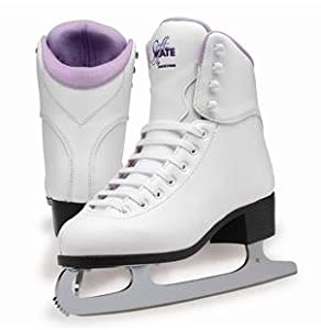 SoftSkate by Jackson GS180 Womens Ice Skates, Recreational Figure Skating (Purple Lining, 10)