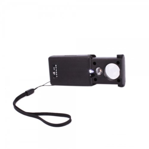 Usa Seller 30X 60X Two Lens Loupe Currency Detecting Jewellery Identifying Pullout Magnifier Led Light Lamp Black