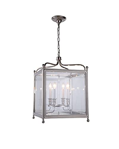 Urban Lights Oxford 5-Light Chandelier, Polished Nickel