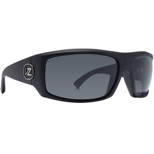 VonZipper Clutch Mens Polarized Sunglasses, Black Satin/Grey Poly