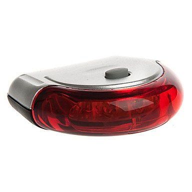 Xs New Ufo Bike Bicycle 5 Led Taillight Rear Light Cycling Safety Lamp Waterproof