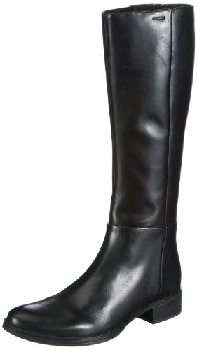 Geox D MENDI D3490Q, Stivali a gamba alta Donna, Nero (Schwarz (BLACK C9999)), 38