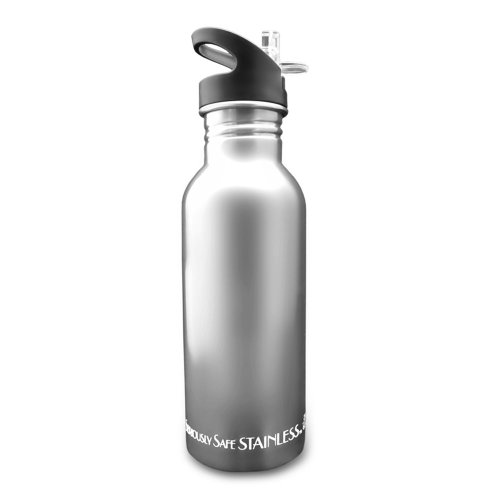 New Wave Enviro Stainless Steel Water Bottle (0.6 Liter, Natural) front-25569