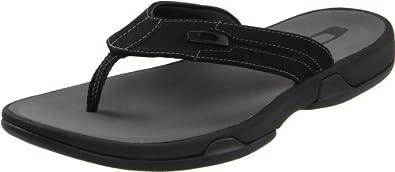 Oakley Men's Prime Flip Flop,Black/Grey,6 M US