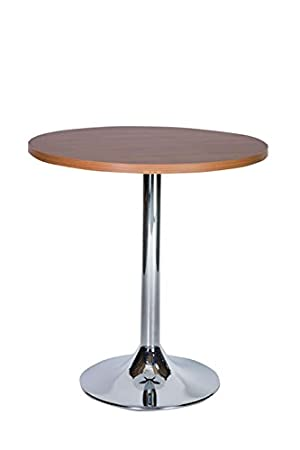 ramizon small compact kitchen table - chrome base 80cm round top