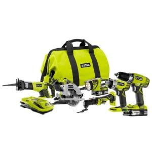Ryobi-18-Volt-ONE-Lithium-Ion-Ultimate-Combo-Power-Tool-Kit-6-Tool-Model-P884