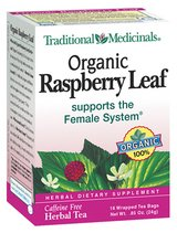 Organic Raspberry Leaf by Traditional Medicinals Box of 16 Bags