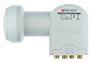 Opticum LQP 04 H Quad LNB für Satelliten-Receiver FULL HD / 3D ready - mit vergoldeten Kontakten