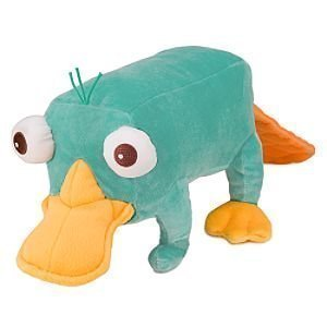 "Disney Phineas and Ferb - Plush Mini Bean Bag Toy - 10"" PERRY"