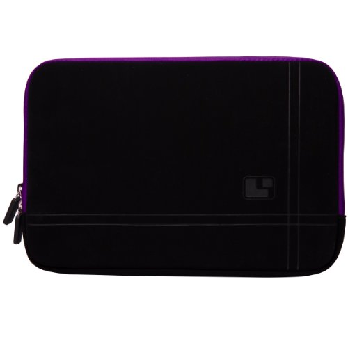Purple Edge Sumaclife Microsuede Sleeve Cover With Neoprene Air Bubble Padding For Dell Xps 10 Windows Rt / Dell Latitude 10 Windows 8 10.1-Inch Tablet (32Gb 64Gb) + Executive Laser Stylus Pen With Led Light front-119104