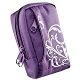 BAXXTAR MANGA II Digital Camera Bag Case * Purple / White * for Canon PowerShot SX280 SX270 SX260 SX240 SX230 S110 IXUS 310 210 IS - Nikon Coolpix S8200 S8100 - Samsung WB2000 WB700 ES65 ES73 ES71 PL150 PL100 -- Sony CyberShot DSC HX20V HX10V HX9V -- Pan