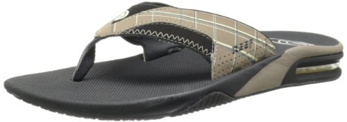 Reef Mens Fanning Prints Thong Sandals R2162BD4 Brown Plaid 6 UK, 39 EU