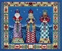 Three Kings, Cross Stitch from Jim Shore