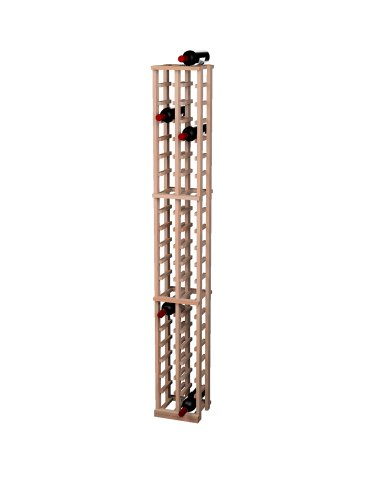 Wine Cellar Innovations Traditional Premium Redwood 2 Column Wine Rack, Unstained front-617958
