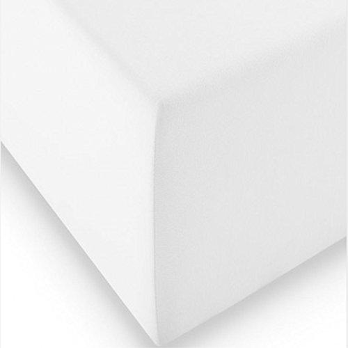 Fleuresse Boxspring- und Wasserbetten Jersey-Spannlaken comfort XL Farbe weiß 1000 Größe: 100 x 200 cm thumbnail