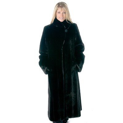 Buy Pamela McCoy Shawl Collar Mink Tissavel Faux Fur Swing Coat