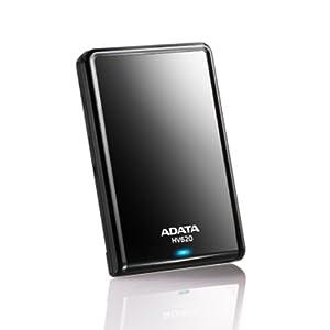 ADATA DashDrive HV620 Portable External Hard Drive 1TB USB 3.0, Black (AHV620-1TU3-CBK)