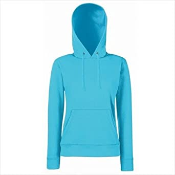 Fruit of the Loom - Lady-Fit Hooded Sweat XS,Azure Blue