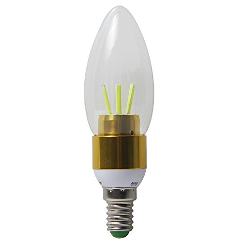 niceEshop(TM) LED E14 4W 450lm COB Kaltweiß Kerze Licht Basis Licht Birne