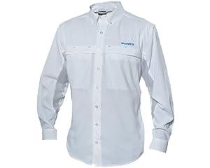 Shimano Technical Vented Long Sleeve Buttondown - White - XL