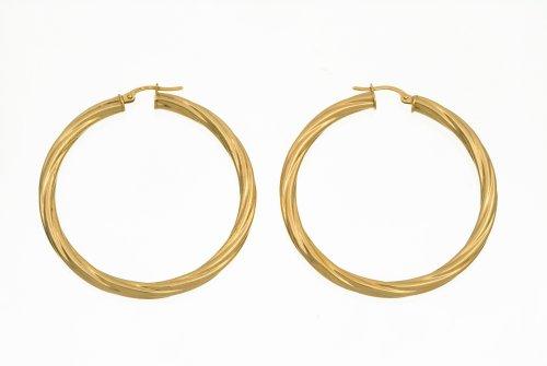 Ladies' Hoop Earrings, 9ct Yellow Gold, Model UER 005Y