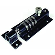 Sliding Barrel Bolt with Combination Lock-BLACK COMBI-BOLT
