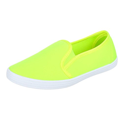 ital-design-manivelle-de-v05-chaussures-basses-moderne-chaussons-jaune-jaune-fluo-36