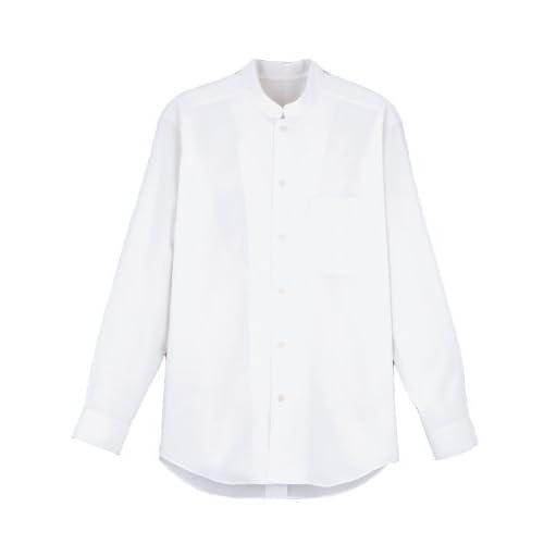 FACEMIX(フェイスミックス) シャツ(長袖スタンドカラー) L (男女兼用)ホワイト FB582U