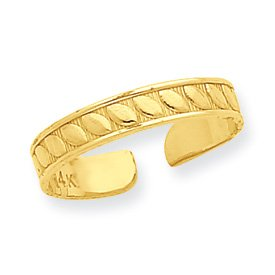 Genuine IceCarats Designer Jewelry Gift 14K Toe Ring Size 0.00