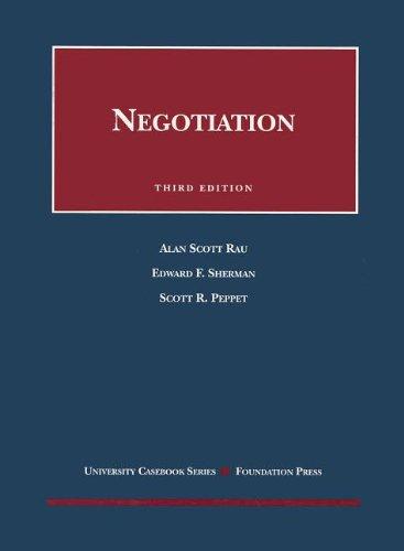 Negotiation (University Casebook Series)