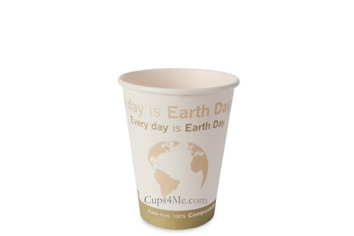 12Oz. Compostable Pla Hot Paper Cup/1000 Ct.