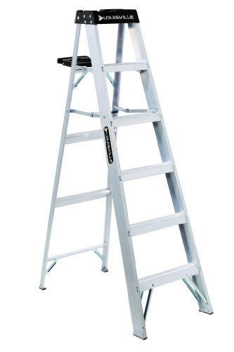 Louisville Ladder AS3006 300-Pound Duty Rating Aluminum Step Ladder, 6-Foot