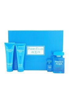 Perry-Ellis-for-Men-4-Pc-Gift-Set-34oz-EDT-Spray-3oz-Soothing-After-Shave-Balm-3oz-Shower-Gel-025oz-EDT-Spray