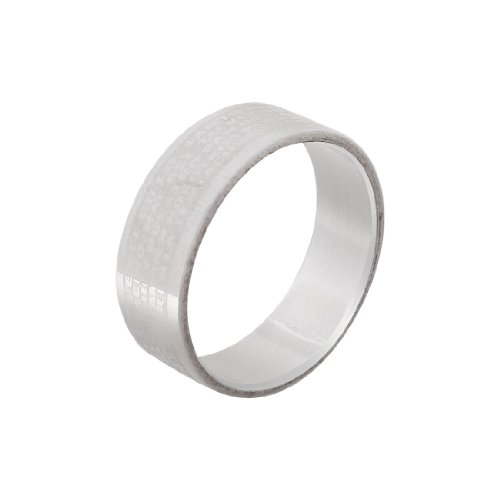 Men Silver Tone Titanium Steel Cross Bible Print Rings US 10