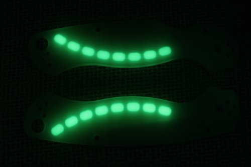Glowing G10 Jade Ghost Scales for Spyderco Paramilitary 2