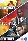 Man on Fire / Die Hard 4.0 / The Sentinal [DVD]