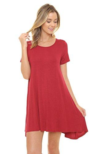 ALYGNE-Womens-Blake-Stretchy-Flowy-Short-Sleeve-Tunic-Dress