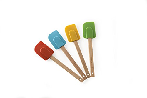 Nordic Ware 4-Piece Large Silicone Spatula Set, Assorted Color