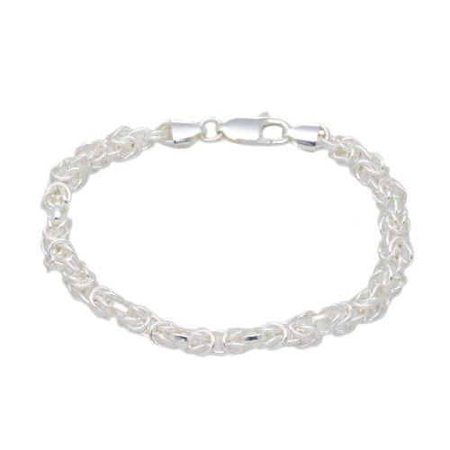 Silver 100 Byzantine Bracelet 8'