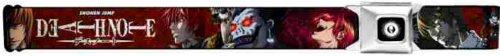Death Note Seatbelt Belt - Shonen Jump w/ Antagonist Evil Characters Repeat