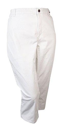 Lee Platinum Label Women's Slimming Stretch Capris (24W, White) (Platinum Label Womens compare prices)