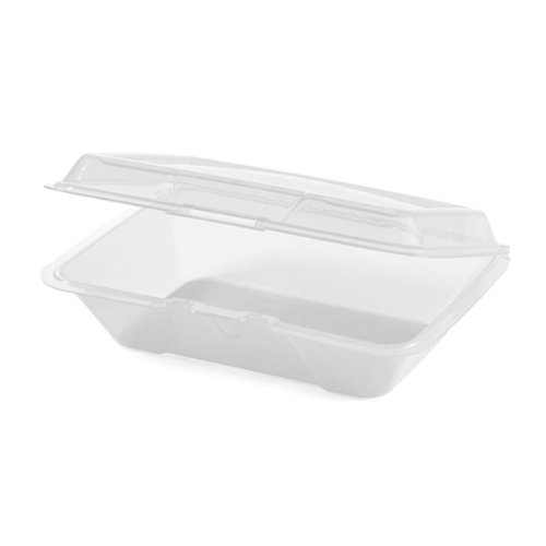 Eco Takeouts 9 Inch X 6.5 Inch Half Size Food Container 2.5??Deep Clear Polycarbonate 12 Ct