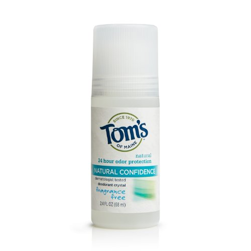 Tom's of Maine Fragrance-Free Natural Confidence Roll-On Deodorant, 2.40-Ounce Bottles (Pack of 6)