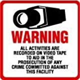 SECURITY SIGN - #204 One (1) Commercial Grade Outdoor/Indoor Security Surveillance CCTV Video Warning! Sign #204