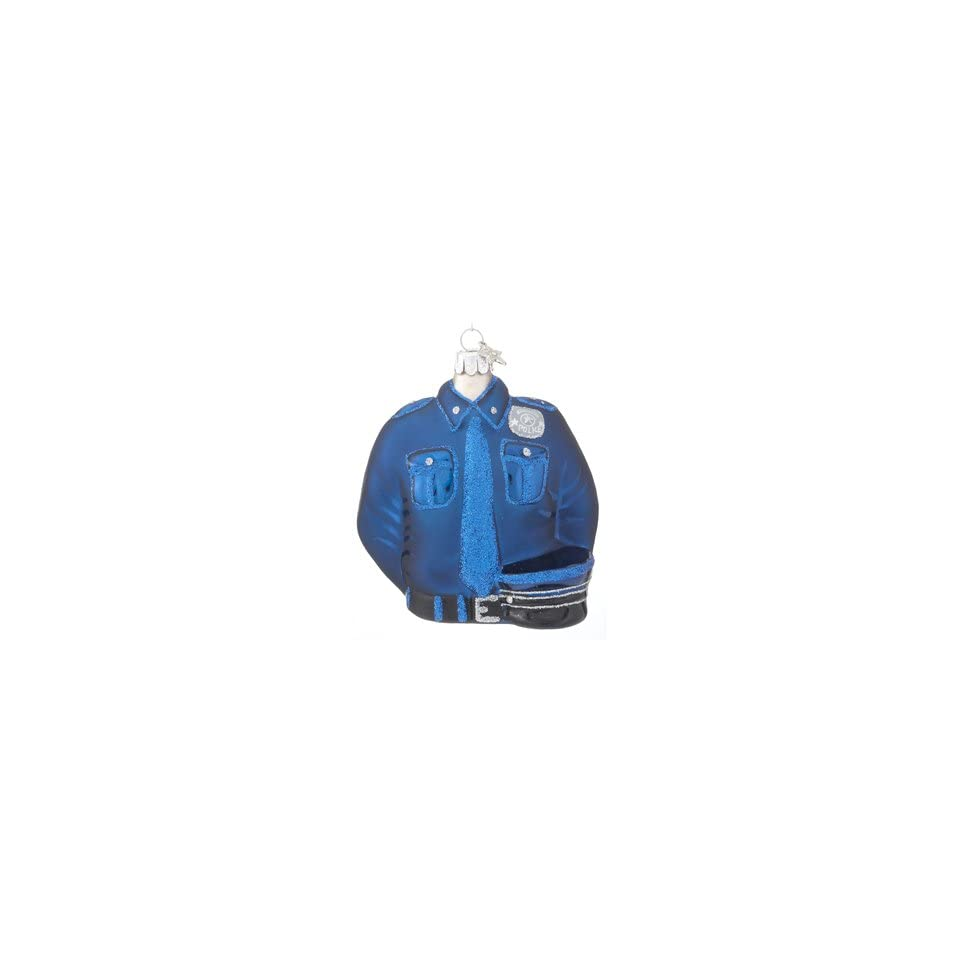 Personalized Police Officer Uniform Christmas Ornament