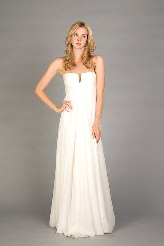 Ivory Chiffon Bridal Gowns by Nicole Miller