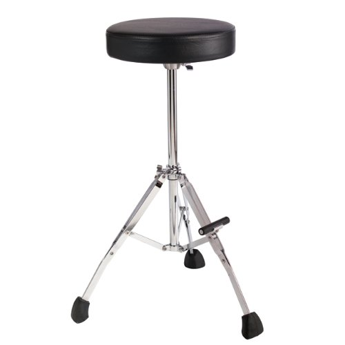 "Gibraltar GGS10T Short 21"" Stool with Round Seat, Fold Up Tripod with Foot Rest"