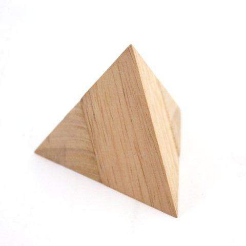 Pyramide, Pyramiden Puzzle 2-teilig Holz Puzzle Knobel IQ-Spiel