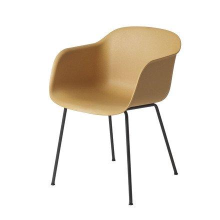 Muuto - Fiber Chair - Tube Base, natur / schwarz